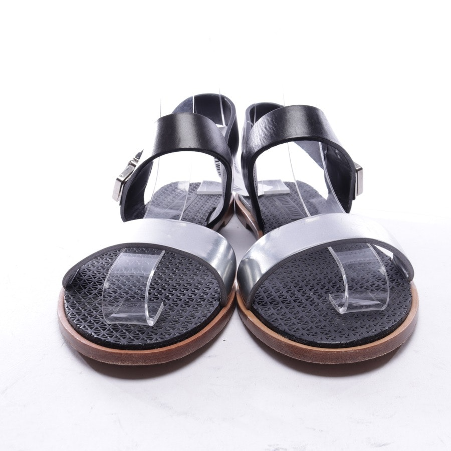 flat sandals from Miu Miu in black and silver size EUR 36