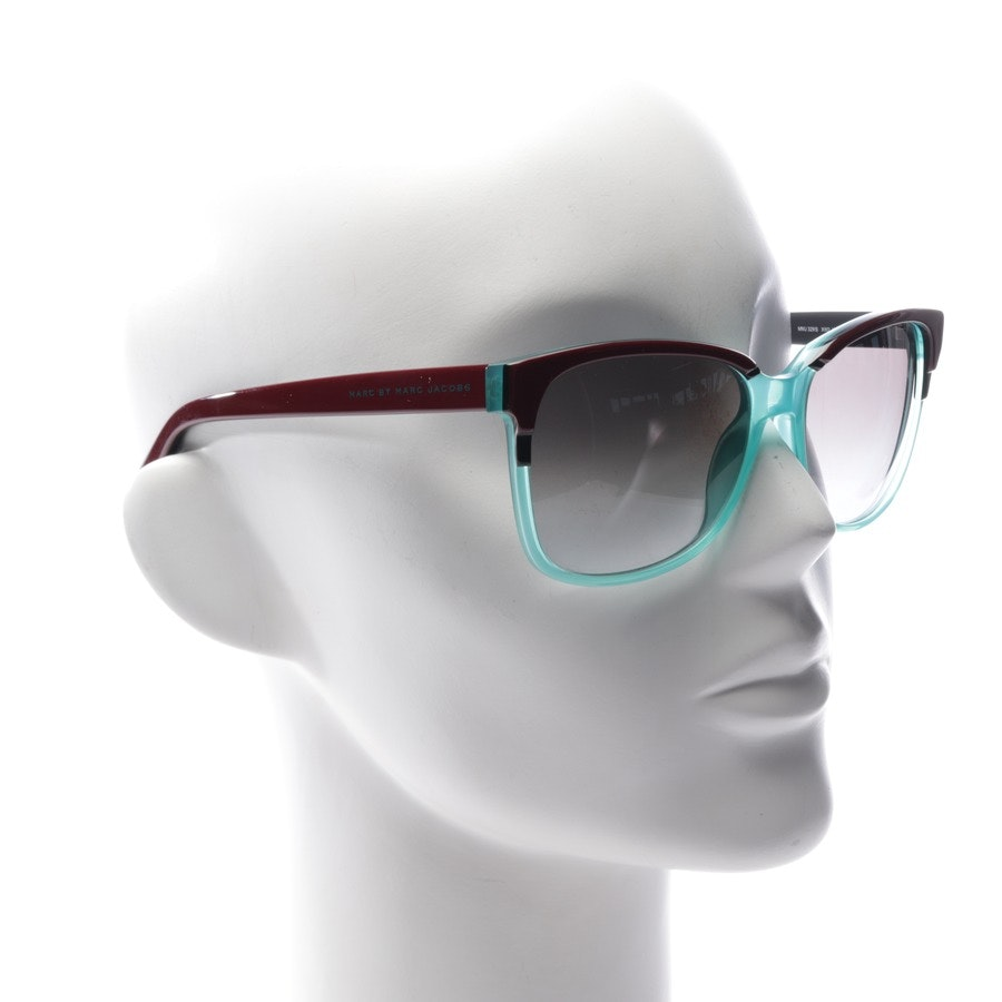 sunglasses from Marc by Marc Jacobs in dark brown and turquoise