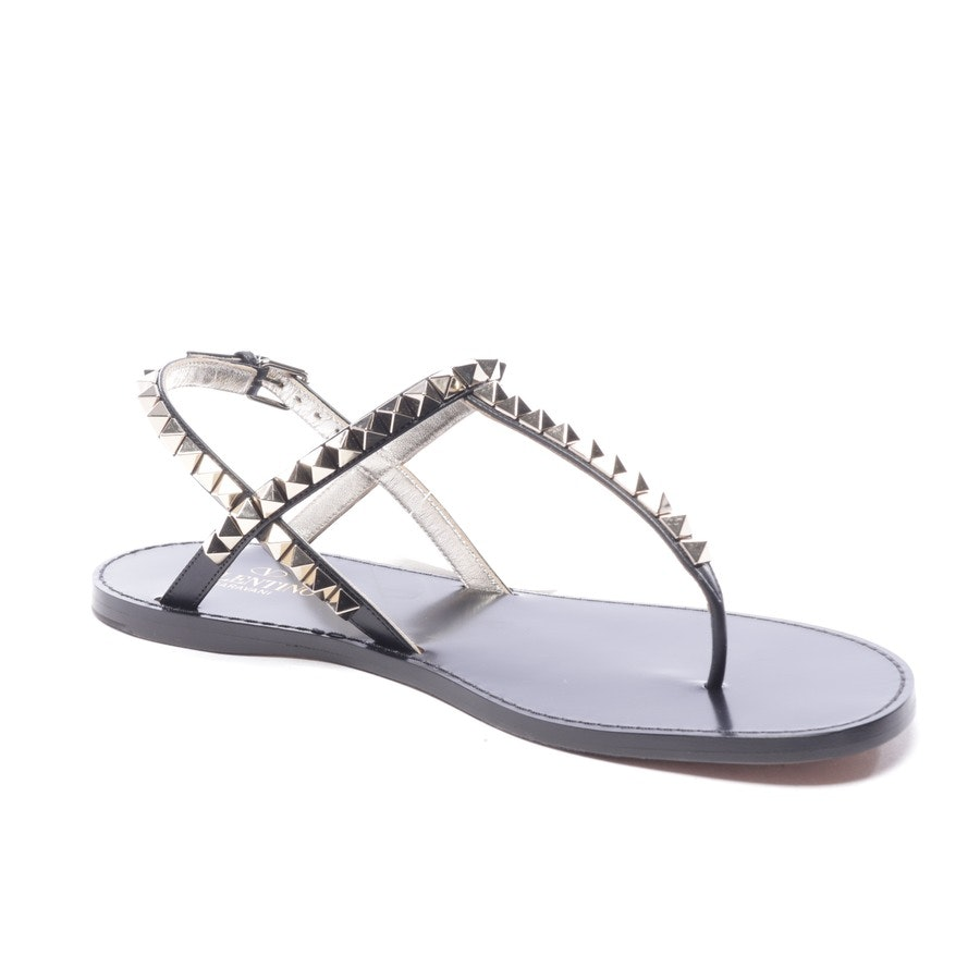 flat sandals from Valentino in black size EUR 38 - rockstud new