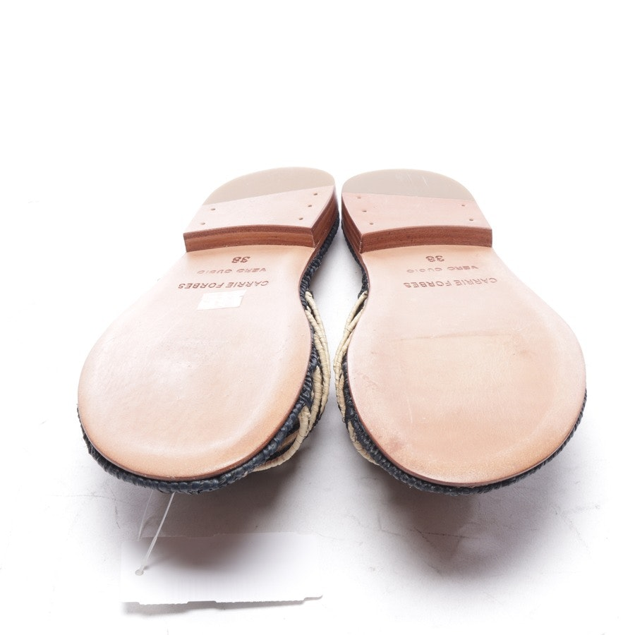 flat sandals from Carrie Forbes in powder and black size EUR 38 - new