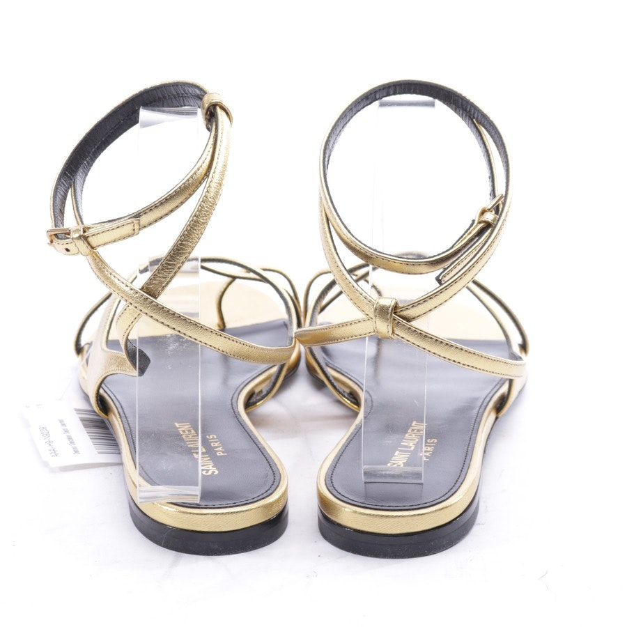 flat sandals from Saint Laurent in bronze and black size EUR 38 - new