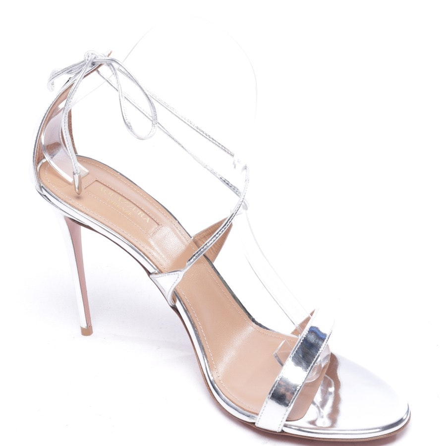 heeled sandals from Aquazzura in silver size EUR 42 - new