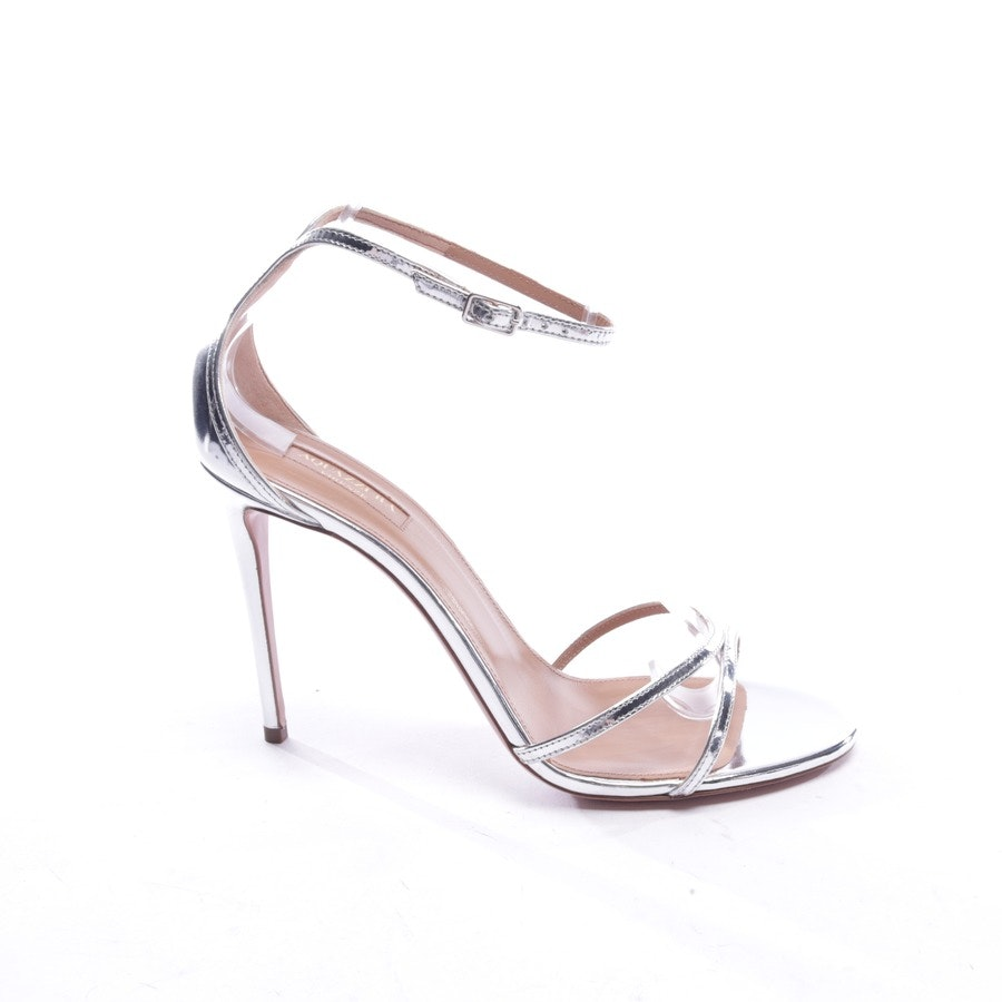 heeled sandals from Aquazzura in silver size EUR 39,5 - new