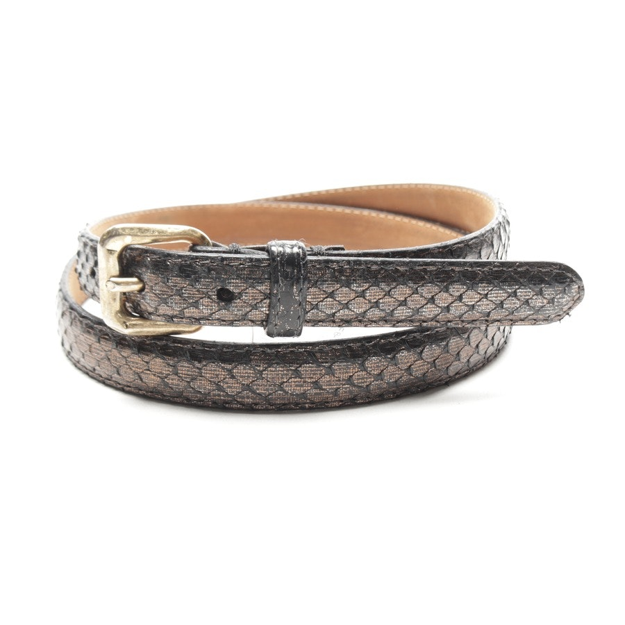 belt from Fausto Colato in anthracite and gold size 85 cm
