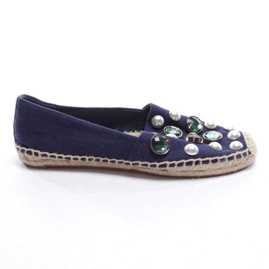 loafers from Tory Burch in blue and beige size EUR 38 US 7,5