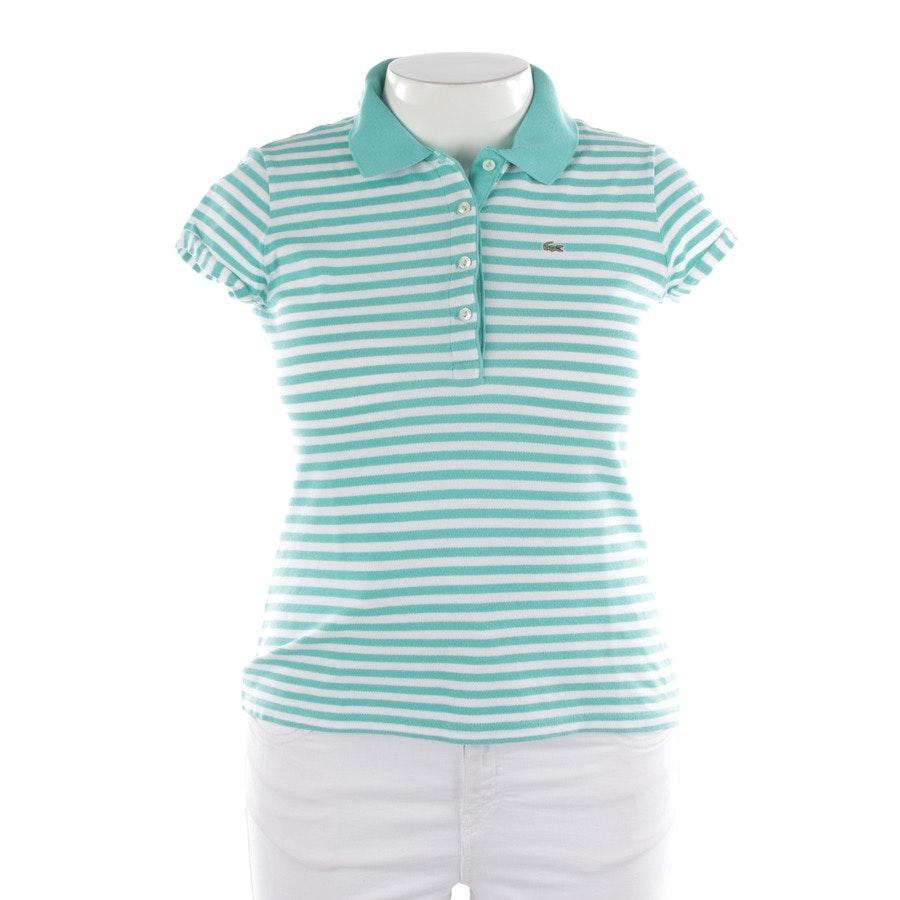 Shirt von Lacoste in Türkis und Weiß Gr. 40 FR 42