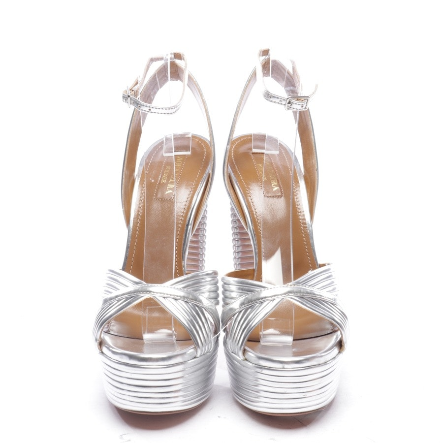 heeled sandals from Aquazzura in silver size EUR 38,5 - new