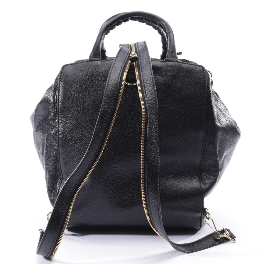 backpack from Balenciaga in black - agneau giant 12 gold zip traveler backpack