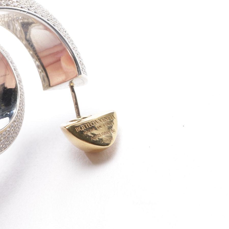 jewellery from Bottega Veneta in silver and gold - 925 sterling silver - embellished hoop earrings