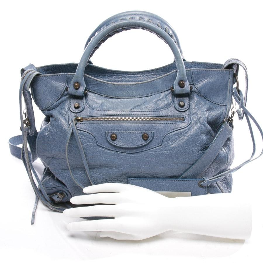 handbag from Balenciaga in blue - bike