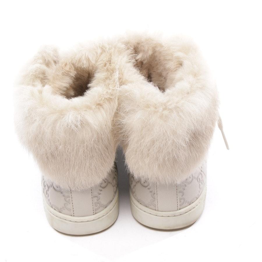 High-Top Sneaker von Gucci in Beigegrau Gr. EUR 37,5 - Guccissima Fur Trim