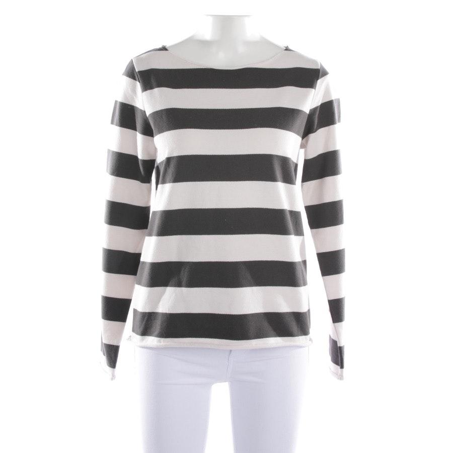 Sweatshirt von Juvia in Cremeweiß und Grau Gr. 2XS