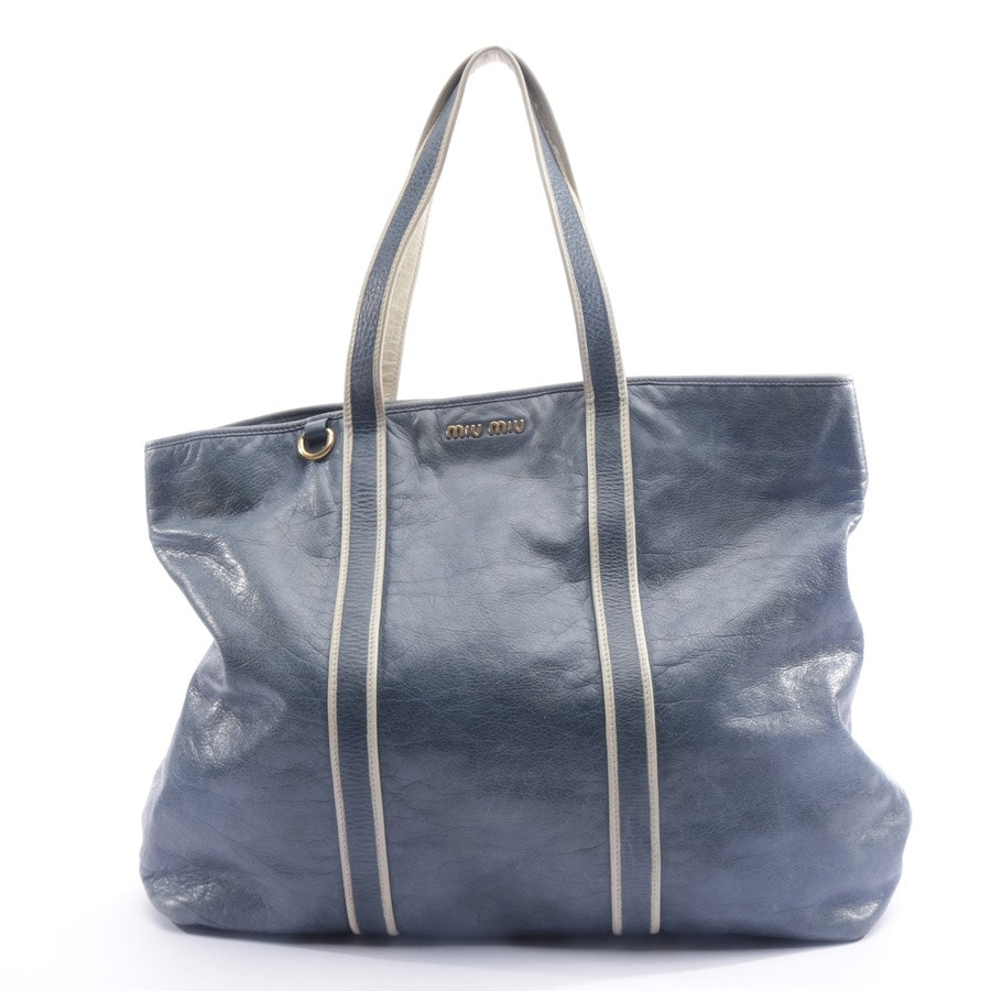 shopper from Miu Miu in grey blue and beige