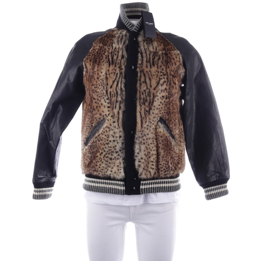 leather jacket from Saint Laurent in black and gold size 46 - new