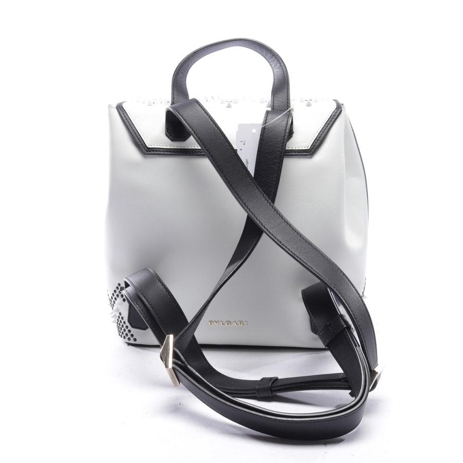 backpack from Bulgari Serpenti Forever x Nicholas Kirkwood in white and black