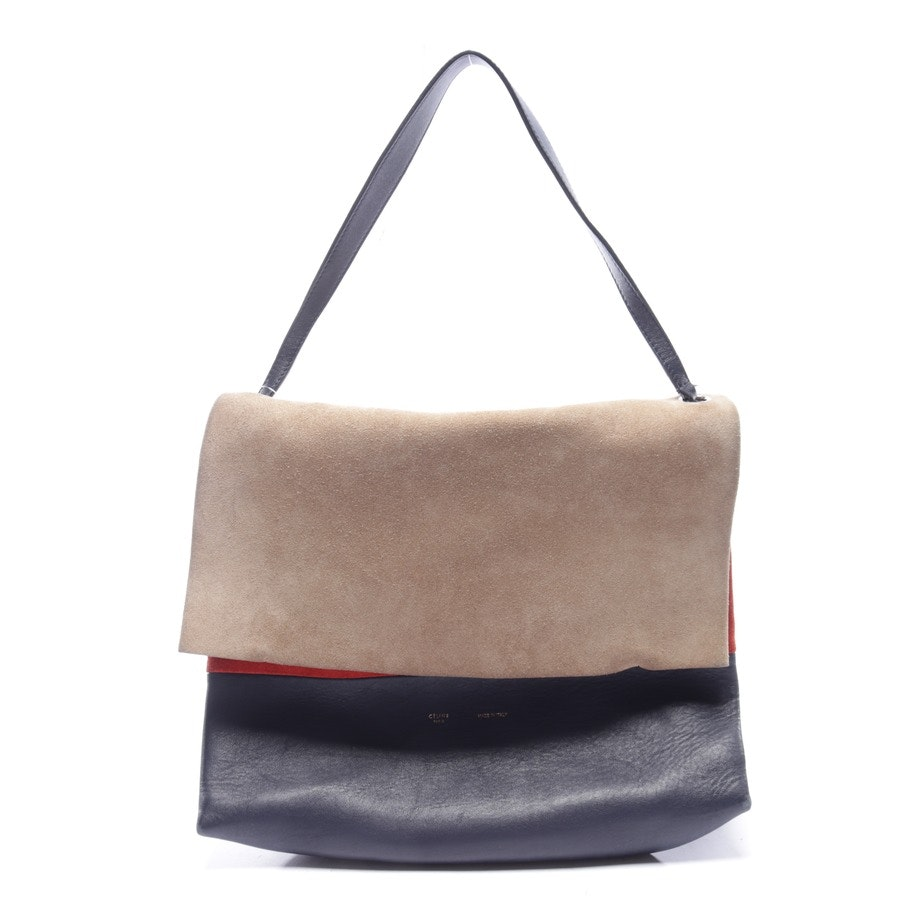 shoulder bag from Céline in night blue and beige
