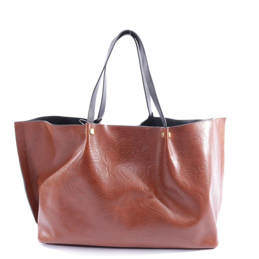 shopper from Valentino in maroon and black
