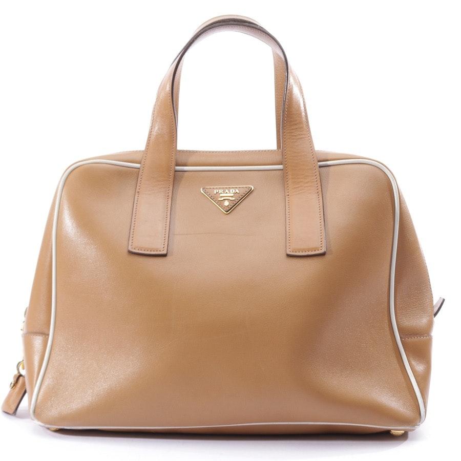 Handtasche von Prada in Beigebraun und Weiß