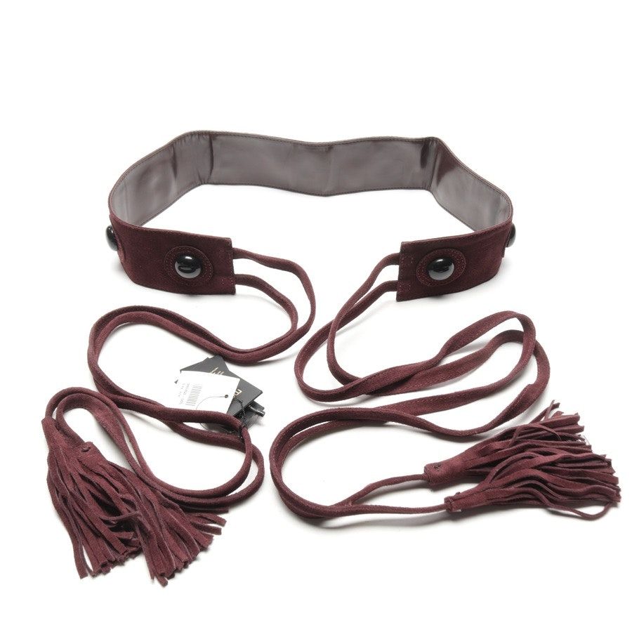 belt from Maje in bordeaux and black size One Size - new