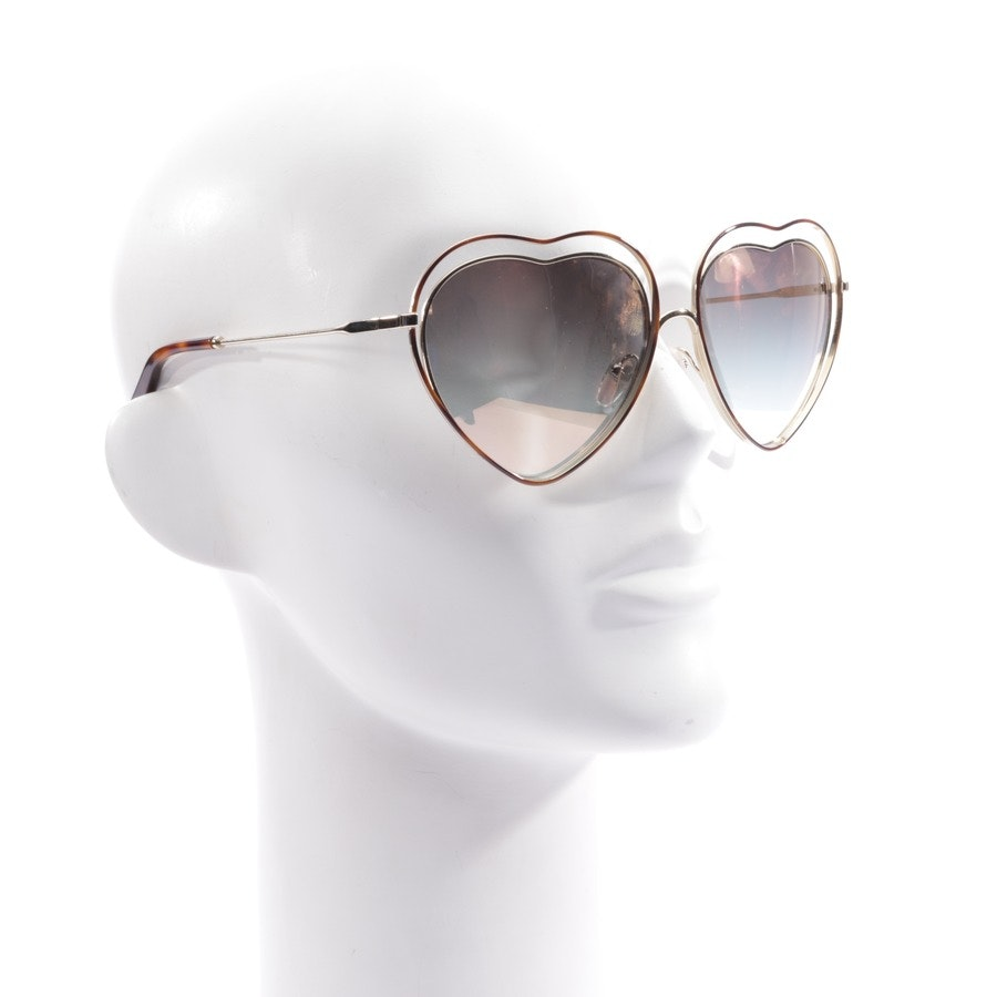 sunglasses from Chloé in gold and brown