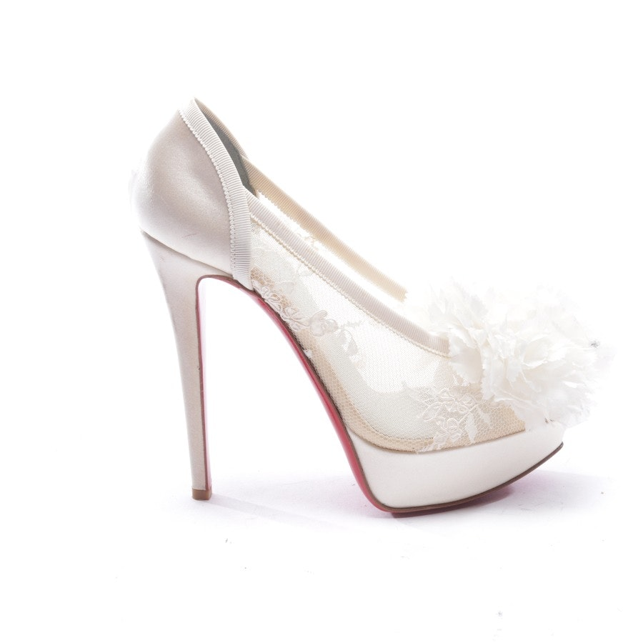 pumps from Christian Louboutin in cream size EUR 37 - new