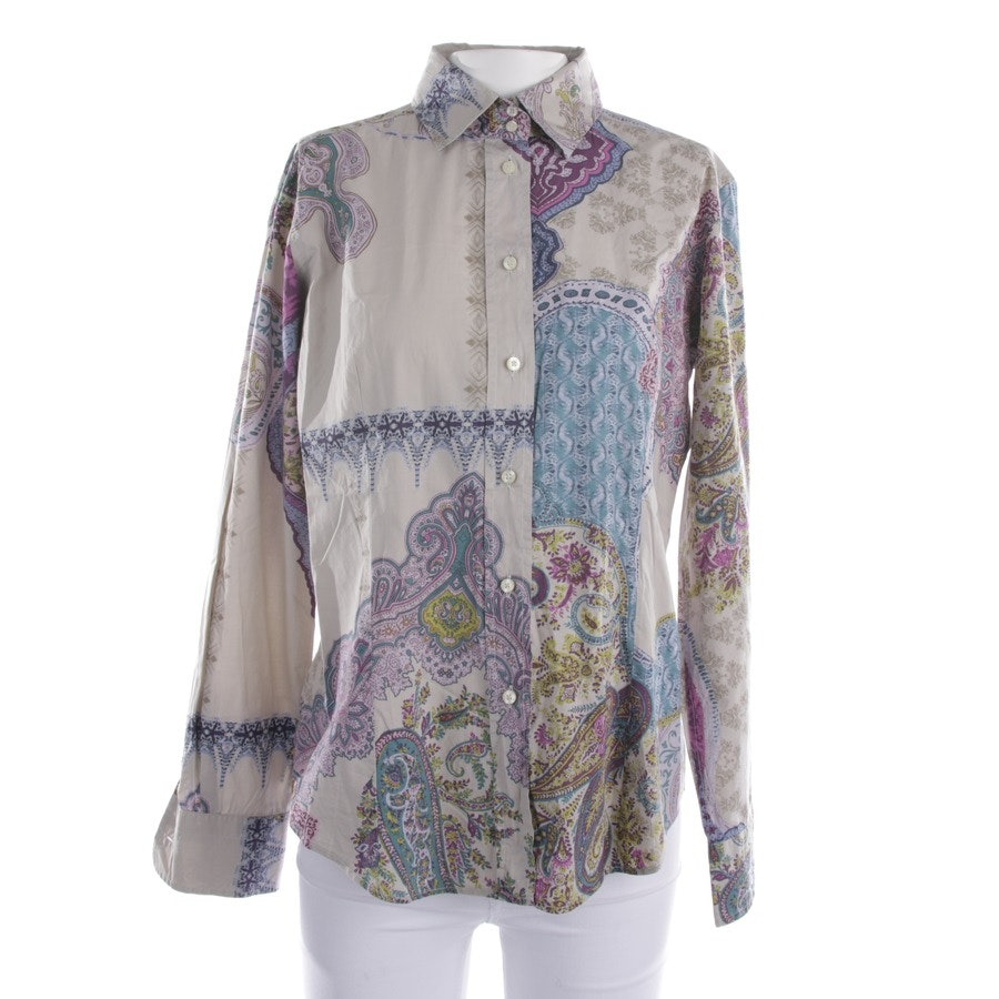 blouses & tunics from Etro in pigeon blue and blue size 40 IT 46