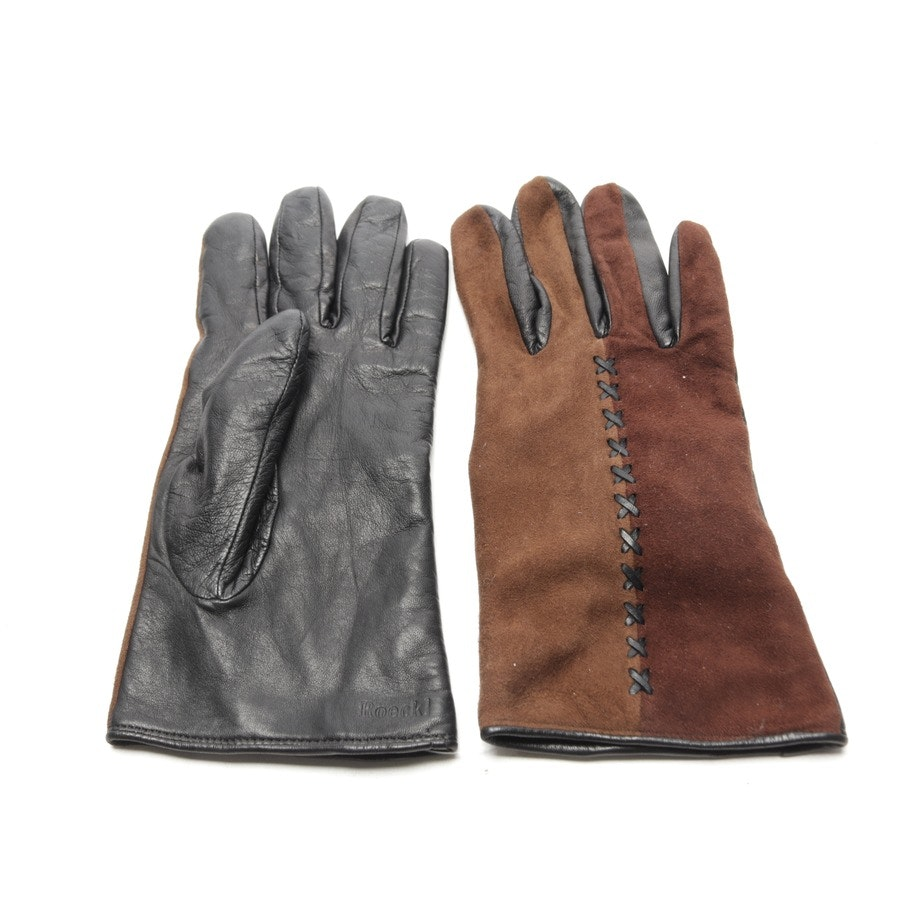 gloves from Roeckl in black and brown size 8
