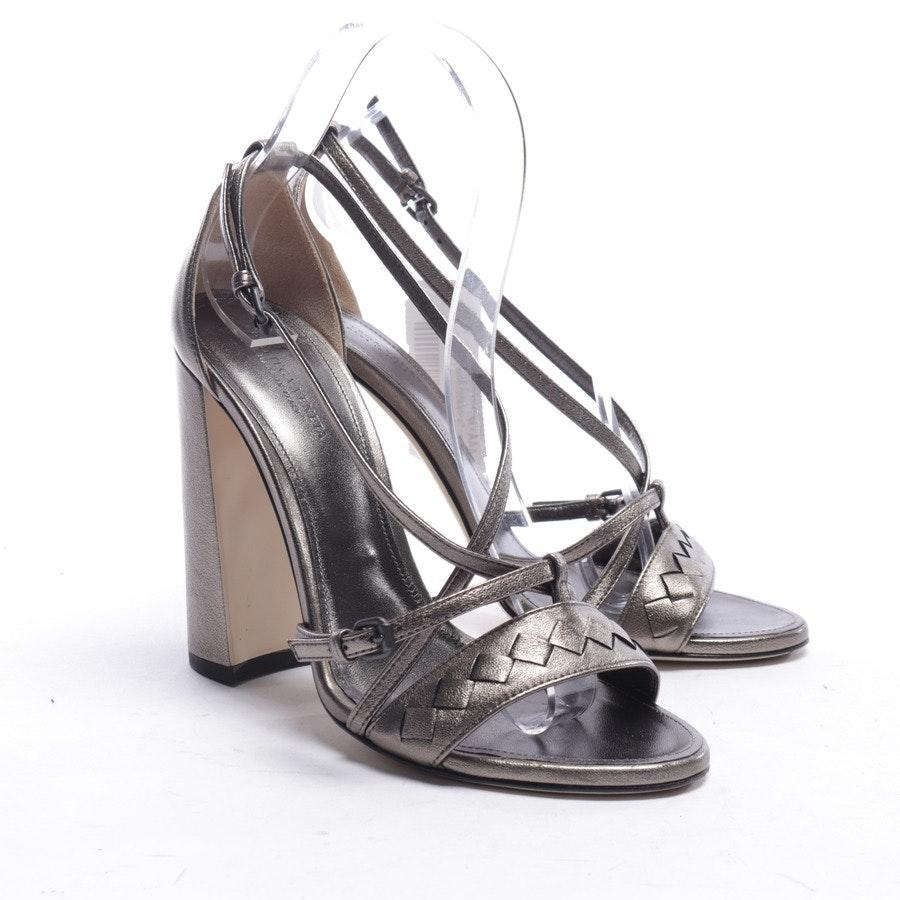 Sandaletten von Bottega Veneta in Silber Gr. EUR 37