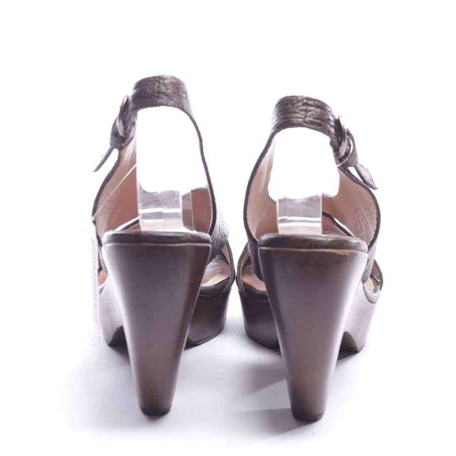 heeled sandals from Pura López in brown size EUR 39
