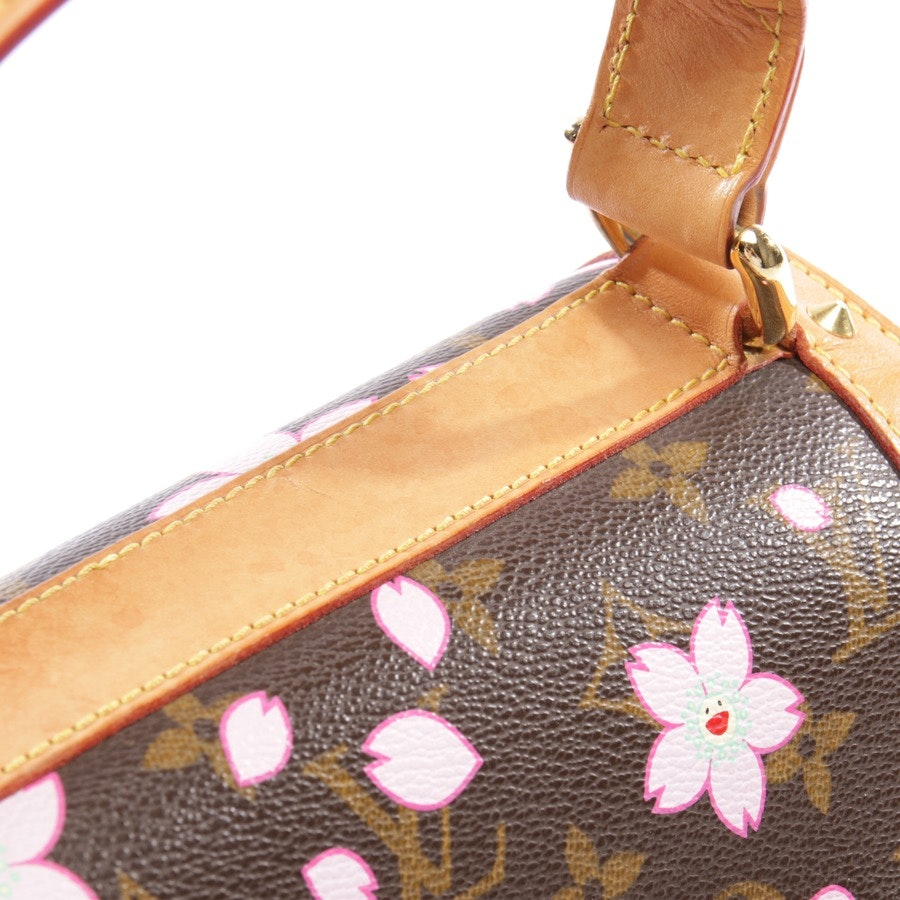 handbag from Louis Vuitton in beige brown and multi-coloured - eye love you cherry blossom