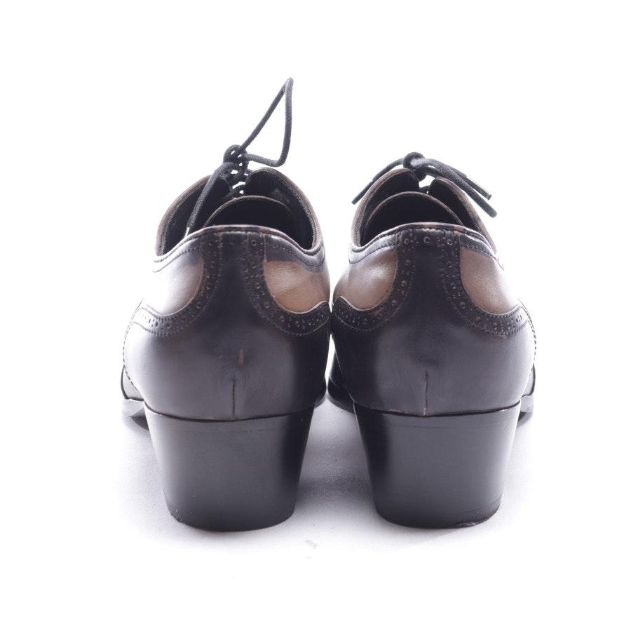 Schnürschuhe von Miu Miu in Beigegrau und Schwarz Gr. EUR 39,5