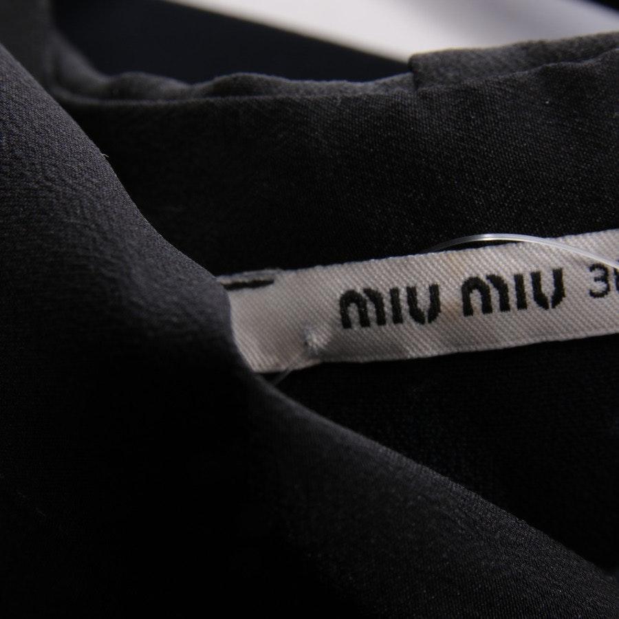 Cocktailkleid von Miu Miu in Nachtblau und Schwarz Gr. 32 IT 38
