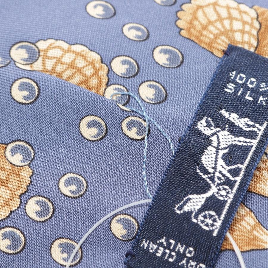 Seidenkrawatte von Hermès in Taubenblau und Beige