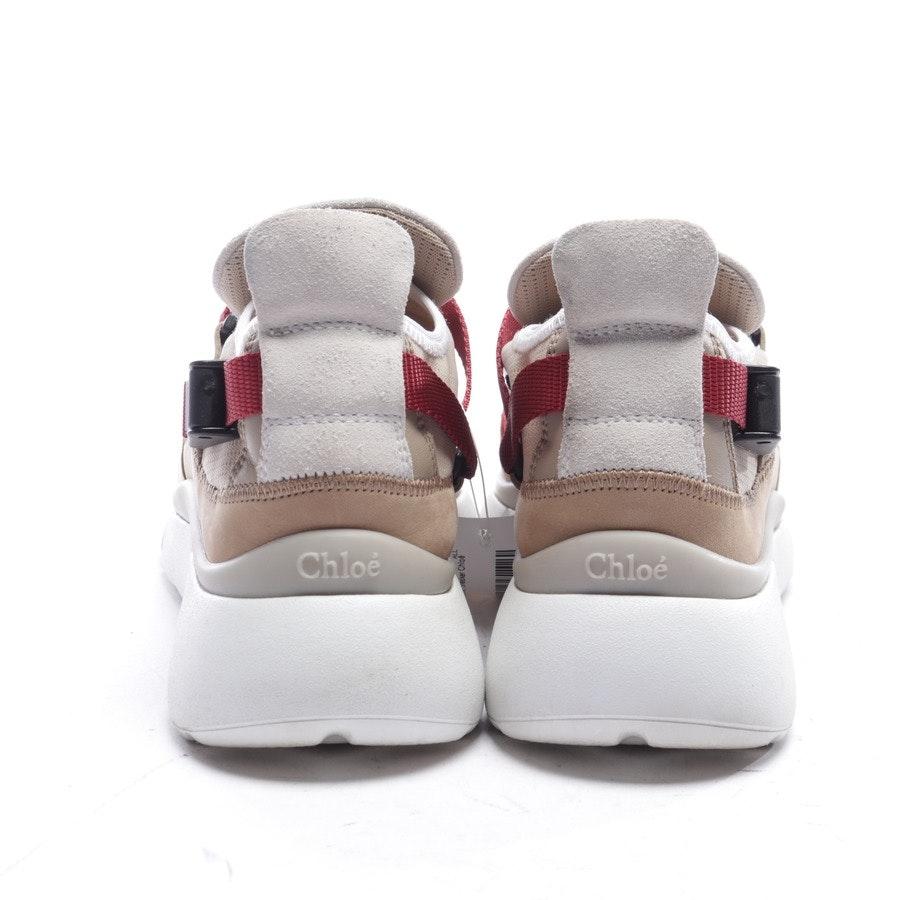 Sneaker von Chloé in Beige und Rot Gr. EUR 39 - Sonnie