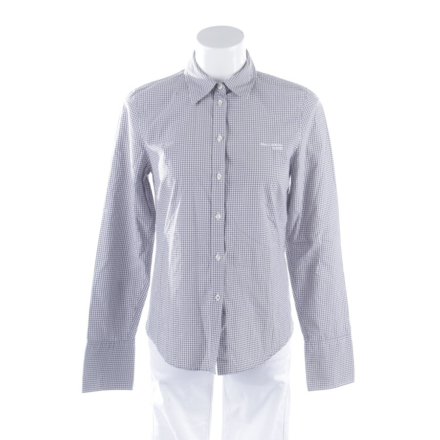 Bluse von Marc O'Polo in Taupe und Weiß Gr. DE 36