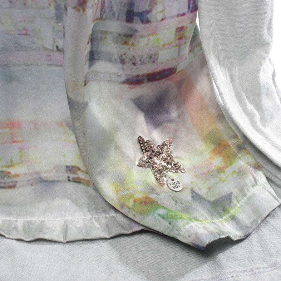 Blusenshirt von Frogbox in Hellgrau und Multicolor Gr. 34