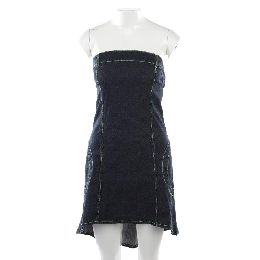 Jeanskleid von Patrizia Pepe in Graublau und Gelb Gr. DE 36