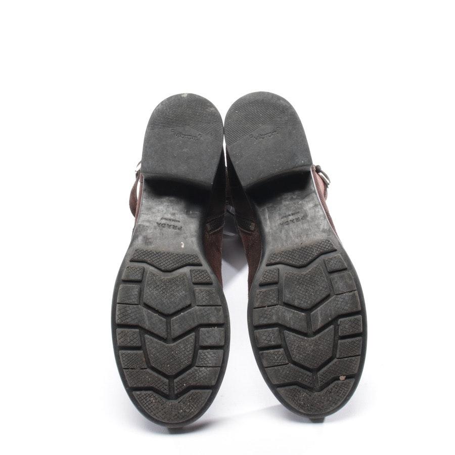 Stiefel von Prada in Dunkelbraun Gr. EUR 37