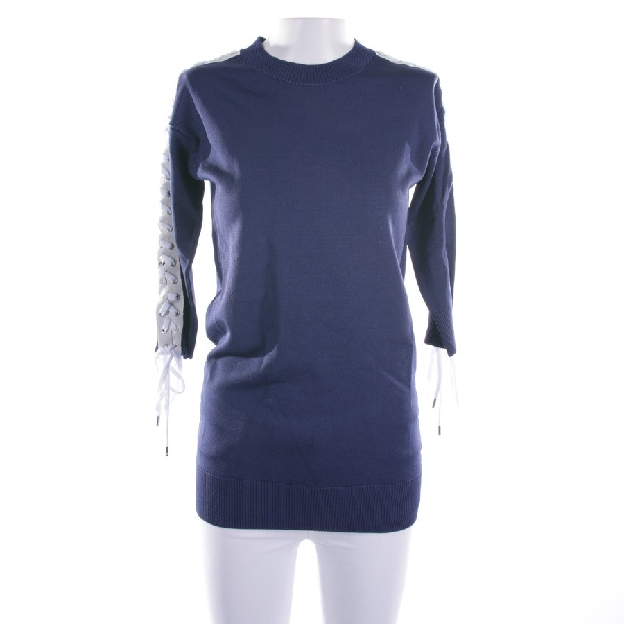 knitwear from Love Moschino in blue and white size 36