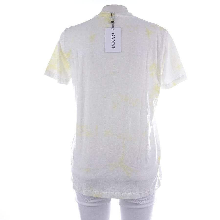 Shirt von Ganni in Weiß und Gelb Gr. XS - Neu