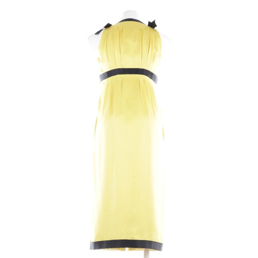 Kleid von Chanel in Sonnengelb und Schwarz Gr. 34 FR 36