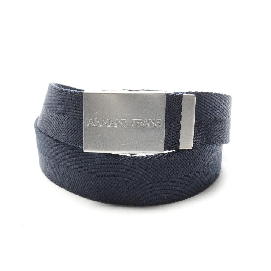 Gürtel von Armani Jeans in Blau und Silber Gr. 100 cm