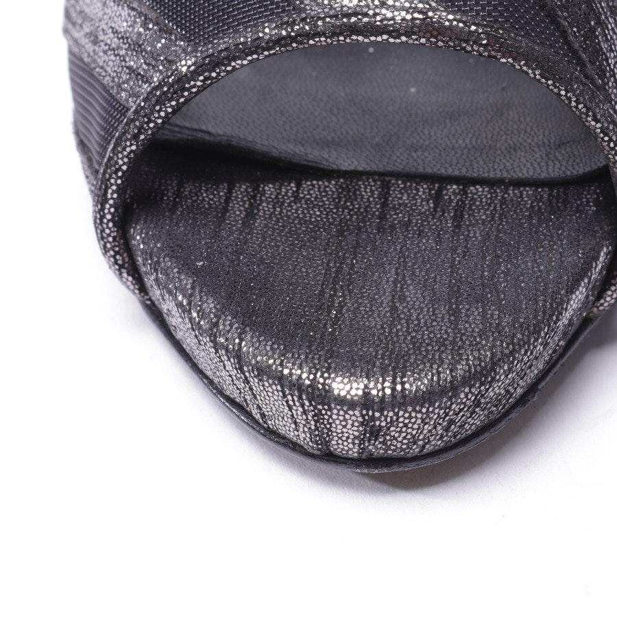 Peep Toes von Pierre Hardy in Silber und Schwarz Gr. D 38