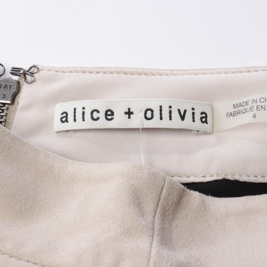 Lederock von Alice + Olivia in Beige Gr. 34 US 4