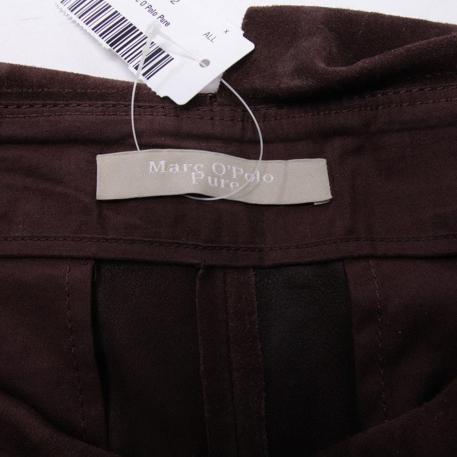 Lederhose von Marc O'Polo Pure in Dunkelbraun Gr. 36