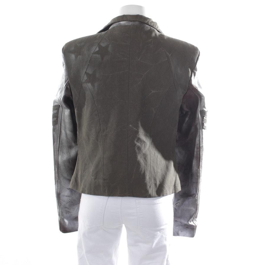 Übergangsjacke von Camouflage Couture in Silber Gr. L - Lederdetails