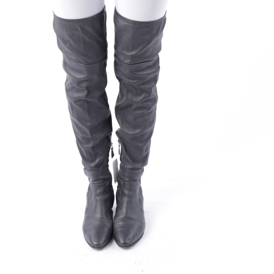 Overknees von Chanel in Anthrazit Gr. EUR 39