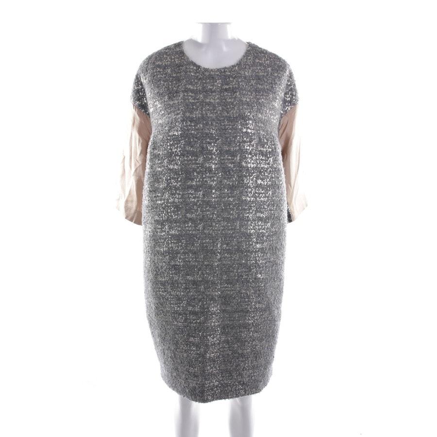Kleid von By Malene Birger in Silber und Beige Gr. 38
