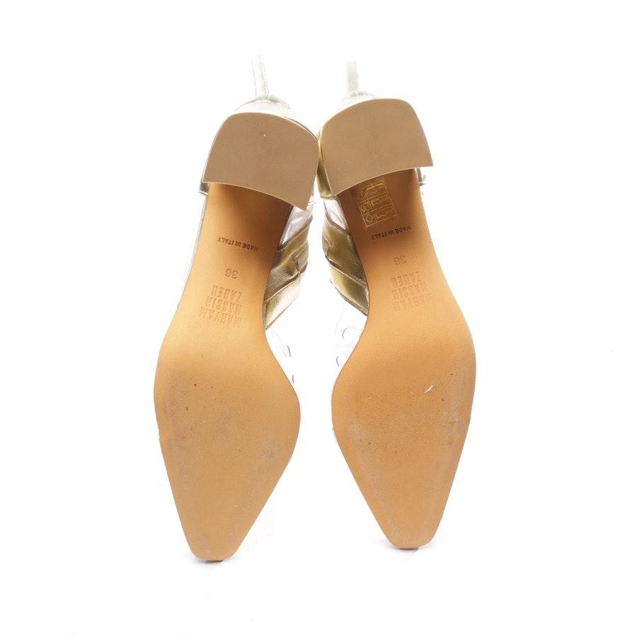 Stiefel von Maryam Nassir Zadeh in Transparent und Gold Gr. EUR 36 - Neu