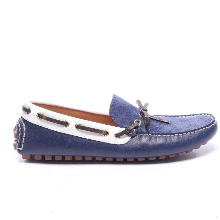 Mokassins von Louis Vuitton in Blau und Weiß Gr. EUR 40,5 UK 7 - Neu